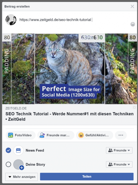Facebook SEO Test